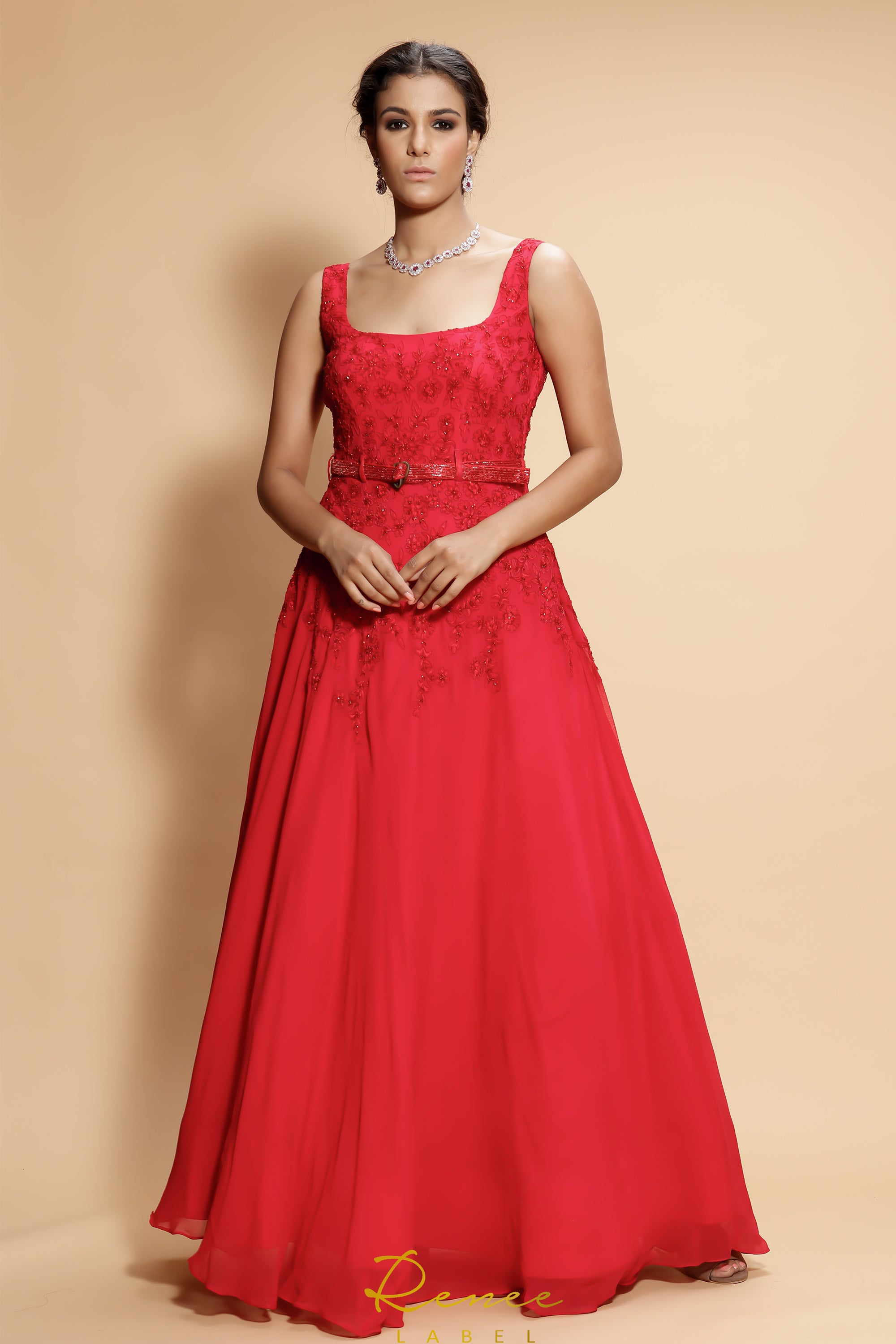 Red Carmine Gown FRONT