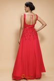 Red Carmine Gown BACK