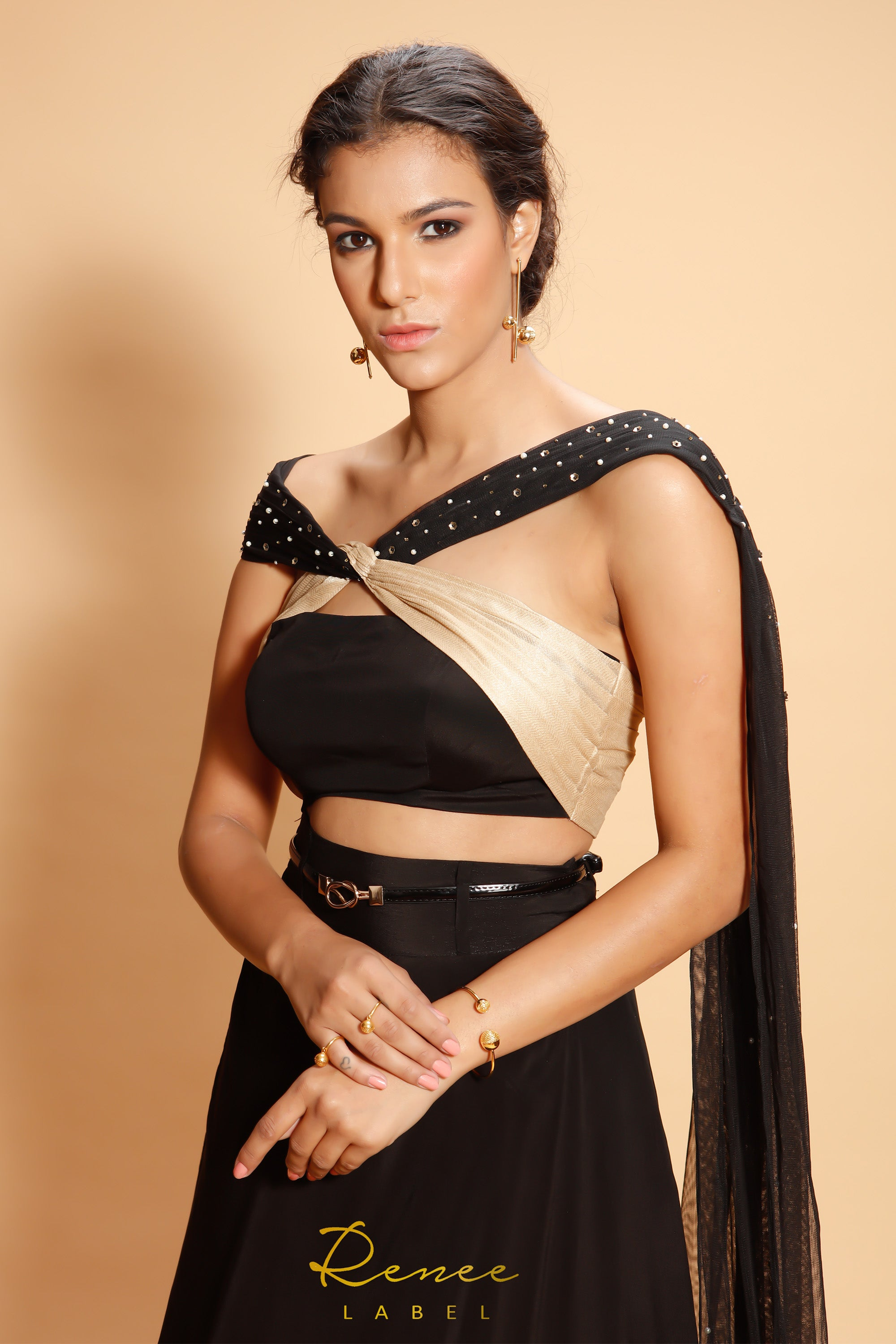 Black Clara Lehenga CLOSE