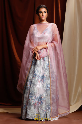 Powder Blue Alyna Lehenga FRONT
