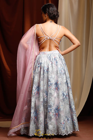 Powder Blue Alyna Lehenga