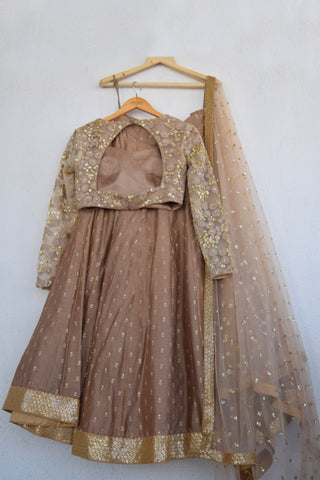 Chestnut Brown Lehenga Set