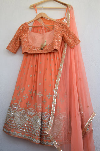 Pumpkin Orange Lehenga Set