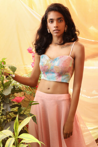 Candy Pastel Skirt & Bustier Set