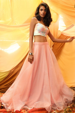 Candy Pastel Skirt & Bustier Set FRONT