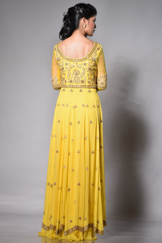 Sunshine Yellow Floor Length Anarkali