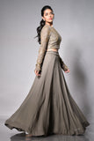 Grey Lehenga Side
