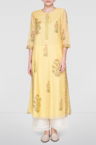 Yellow Liliana Kurta FRONT