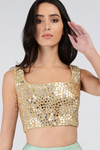 Gold Mirrorwork Blouse
