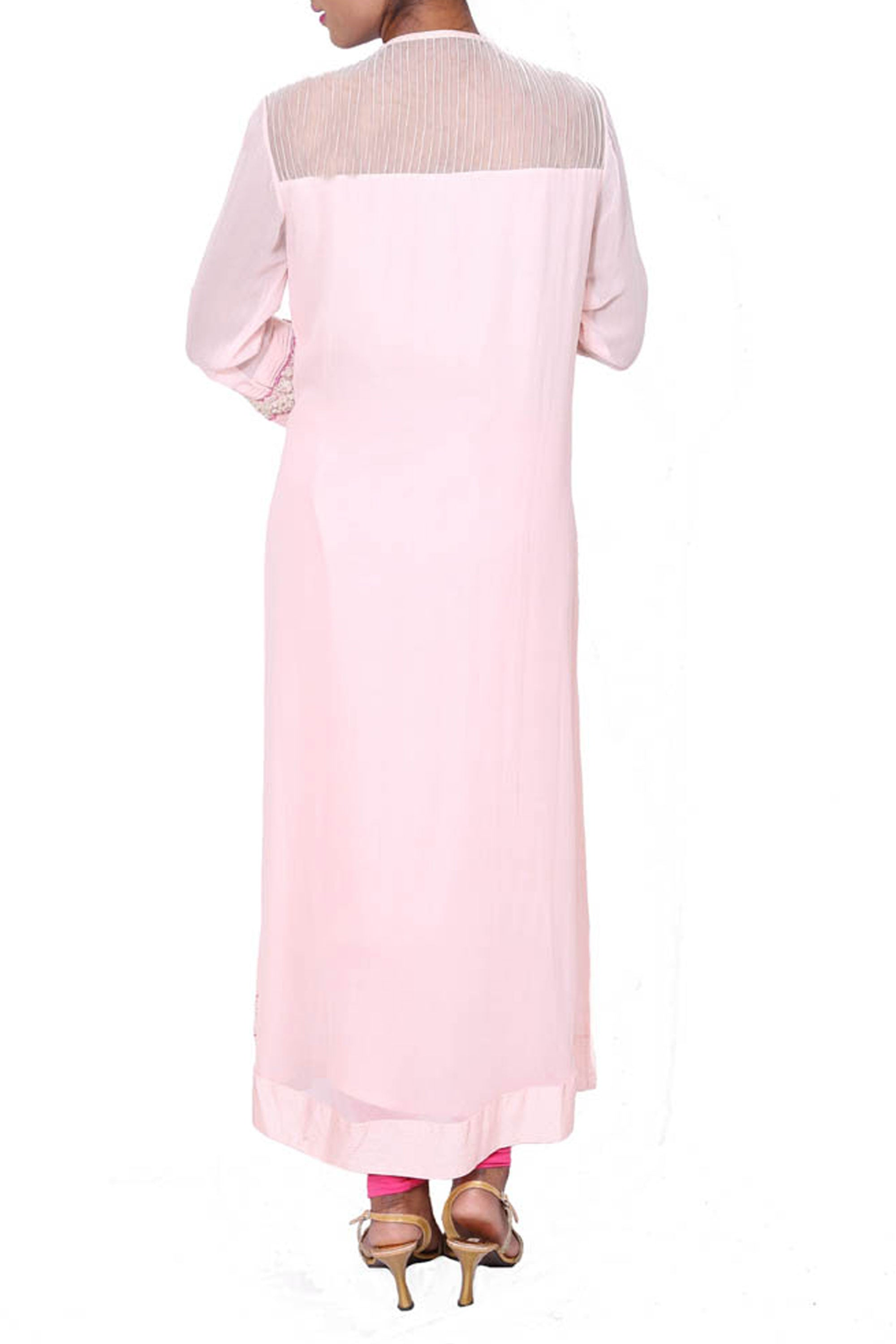 Long Tunic With Patched Dori-Moti Work Back