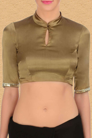 Antique Golden Blouse Front