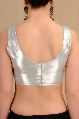 Shimmer Silver Blouse
