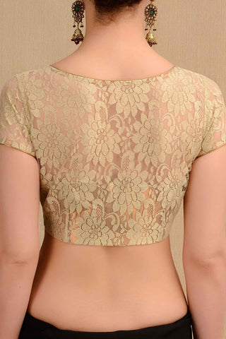 Floral Lace Golden Blouse