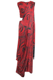 Red Rose Silk Saree Parul Signature Mannequin Back