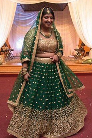 Forest Green Lehenga Set