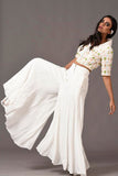White Beaded Trouser Suit Side