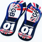GB Speedway Team Personalised Flip Flops