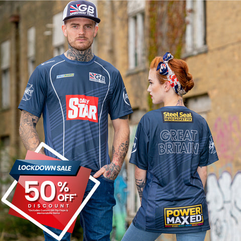 ** 50% OFF SALE** GB Speedway Team Race Wear POLO Shirt (with Collar) - LIMITED EDITION