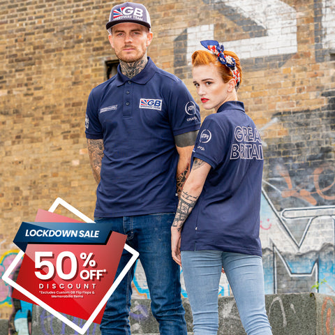 ** 50% OFF SALE** GB Speedway Team Wear Polo