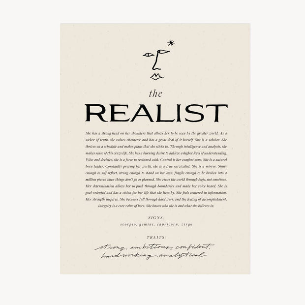"""The Realist"" Art Print"