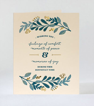 Sympathy Laurels Card