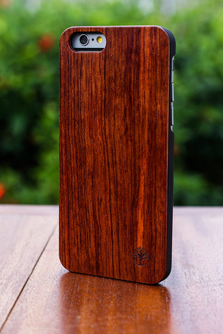 The Lennox 6 - Rosewood & Black Polycarbonate Case for iPhone 6/6s
