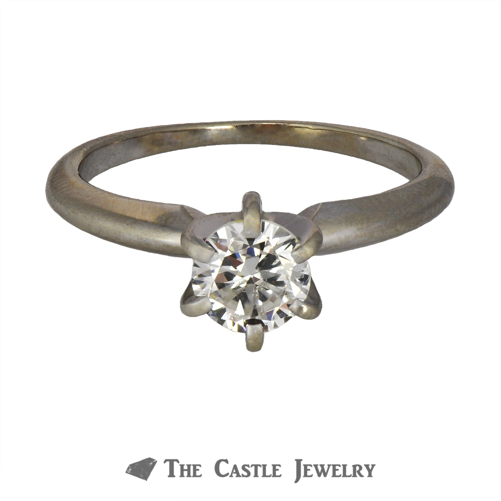 Round Diamond Engagement Ring .60ct SI1/I in 14K White Gold