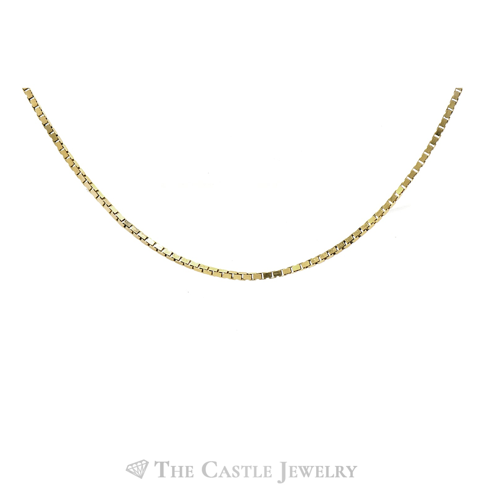 18 Inch Box Link Chain in 14k Yellow Gold-1