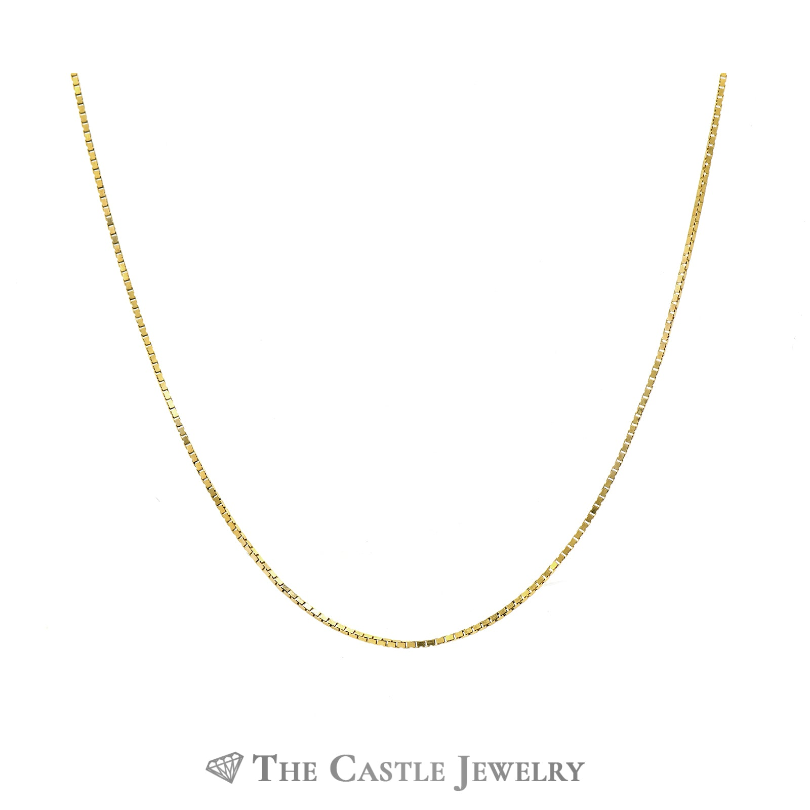18 Inch Box Link Chain in 14k Yellow Gold