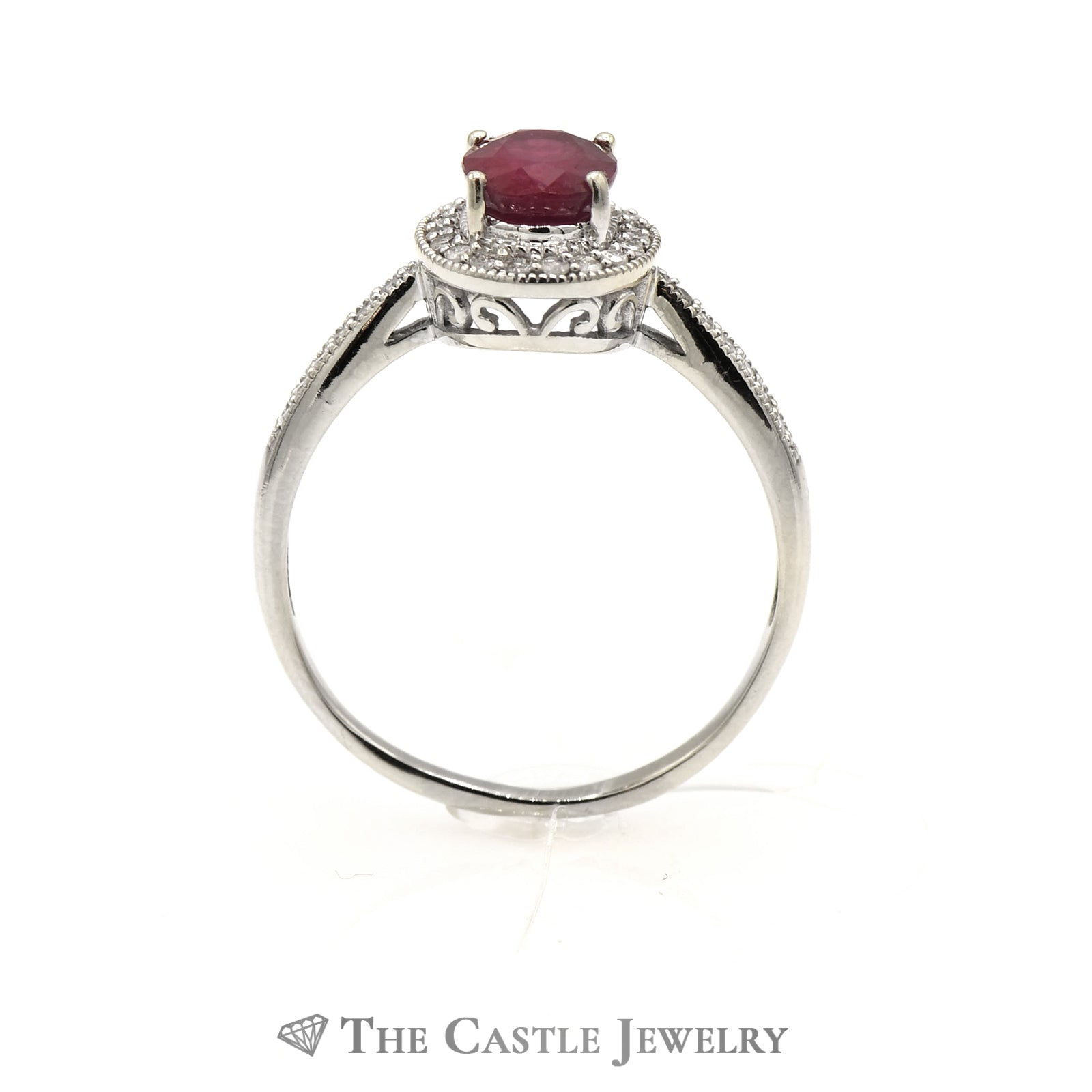 Oval Ruby in Diamond Engagement Ring Mounting-1