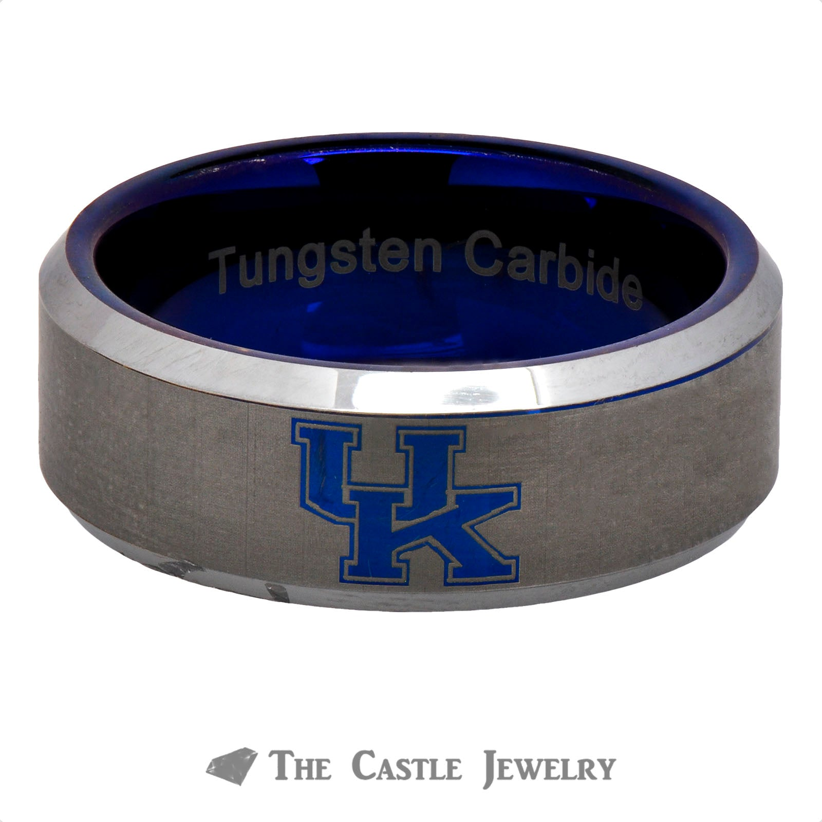 University of Kentucky 8mm Tungsten Wedding Band