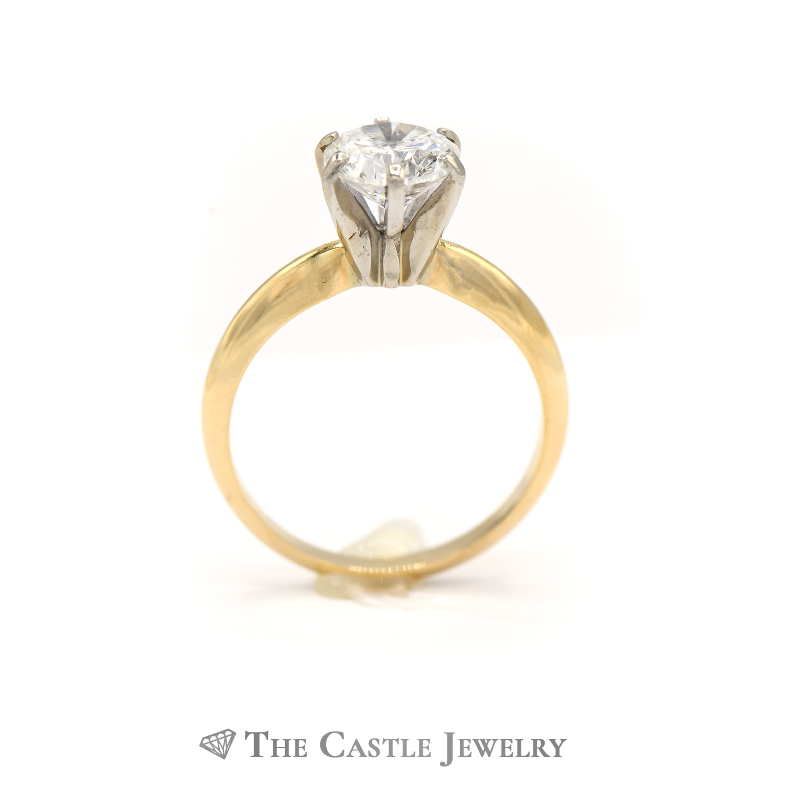 1.52ct Diamond Solitaire Engagement Ring 14K Yellow Gold-1