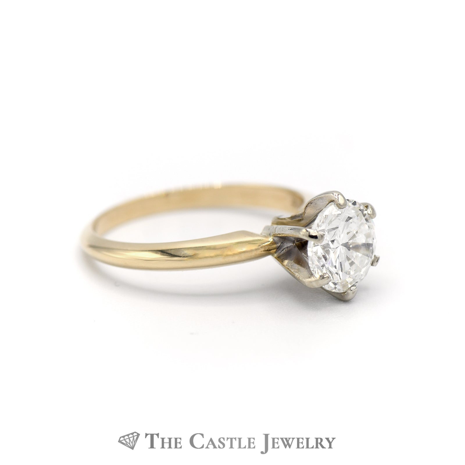 1.52ct Diamond Solitaire Engagement Ring 14K Yellow Gold-2