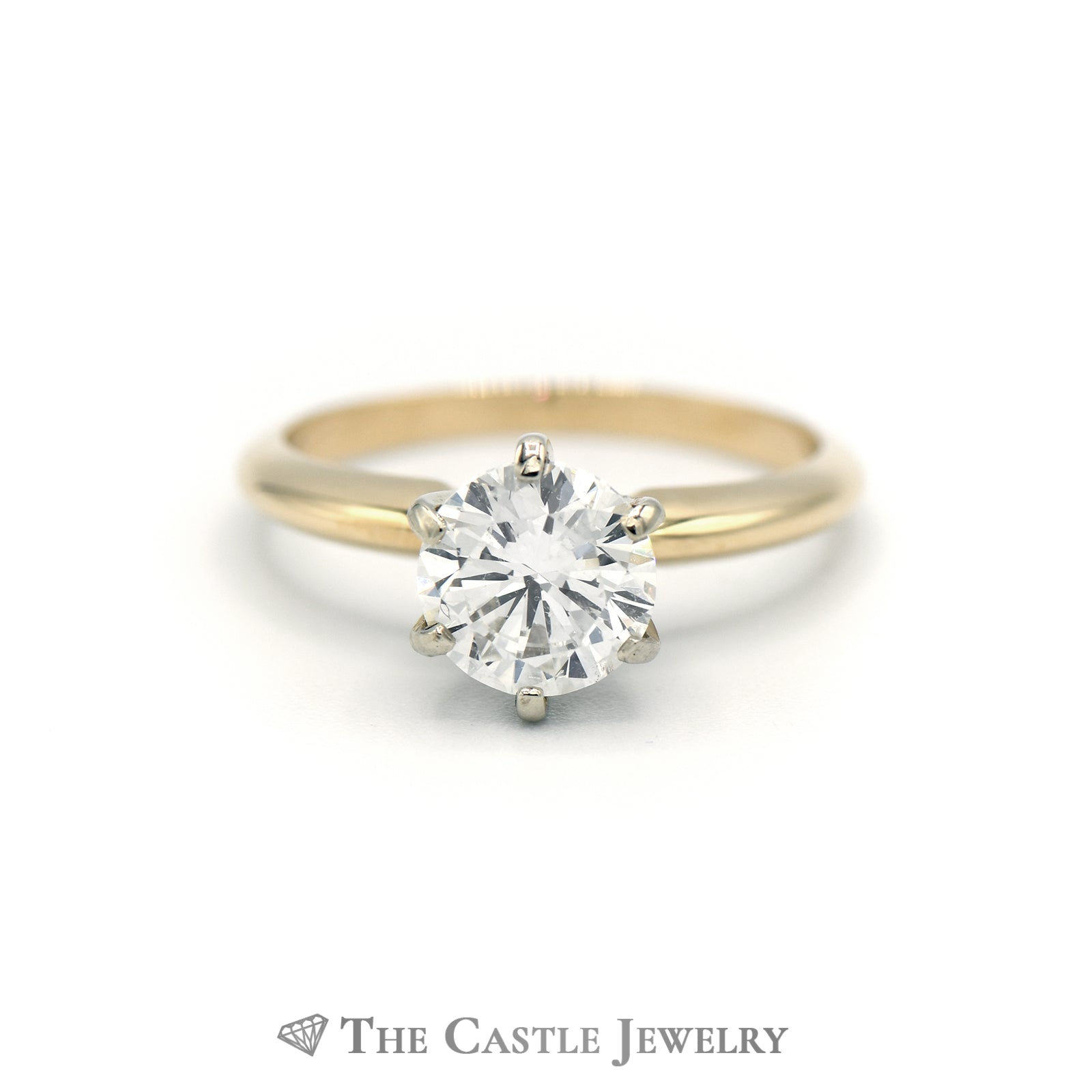 1.52ct Diamond Solitaire Engagement Ring 14K Yellow Gold