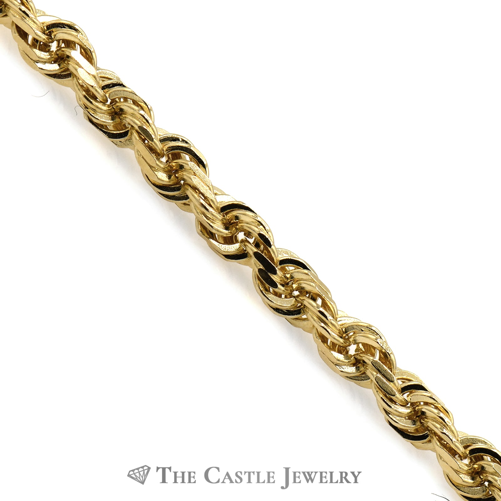 10k Yellow Gold 8 1/2 Inch Rope Bracelet