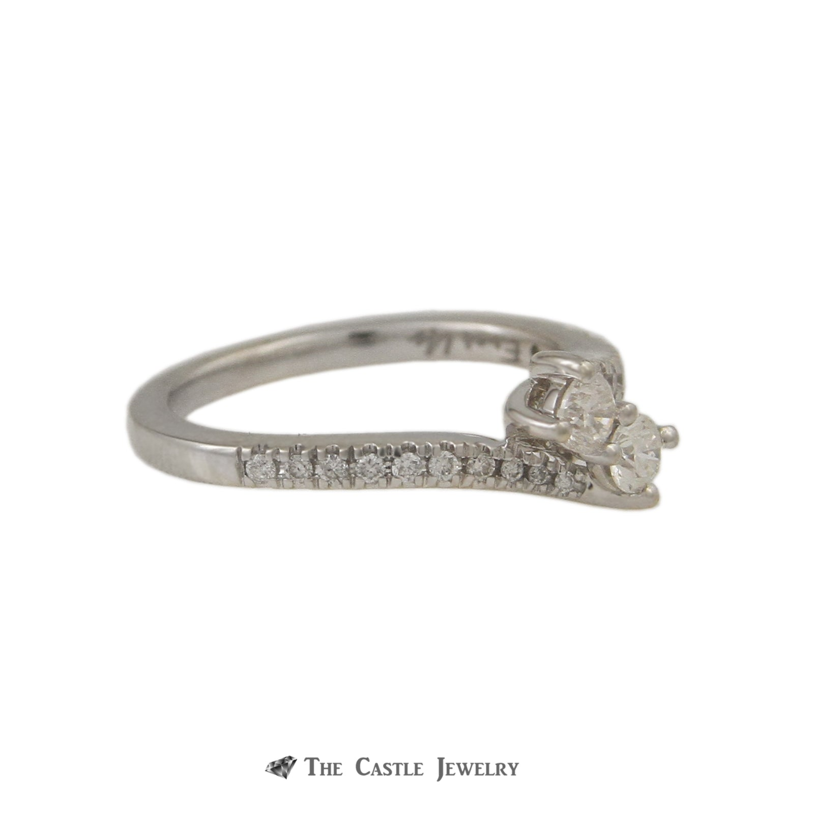 Ever Us .50cttw Diamond Two Stone Ring with Round Brilliant Cut Diamond Sides-2