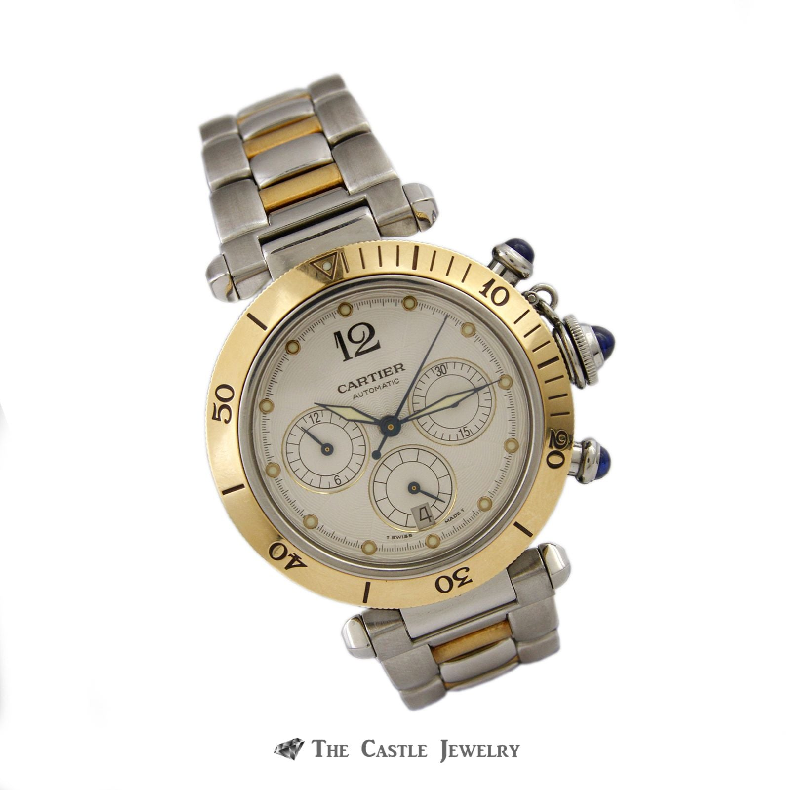 Cartier Pasha de Cartier Watch 18K & Steel 38mm Chronograph Ref. 2113-2