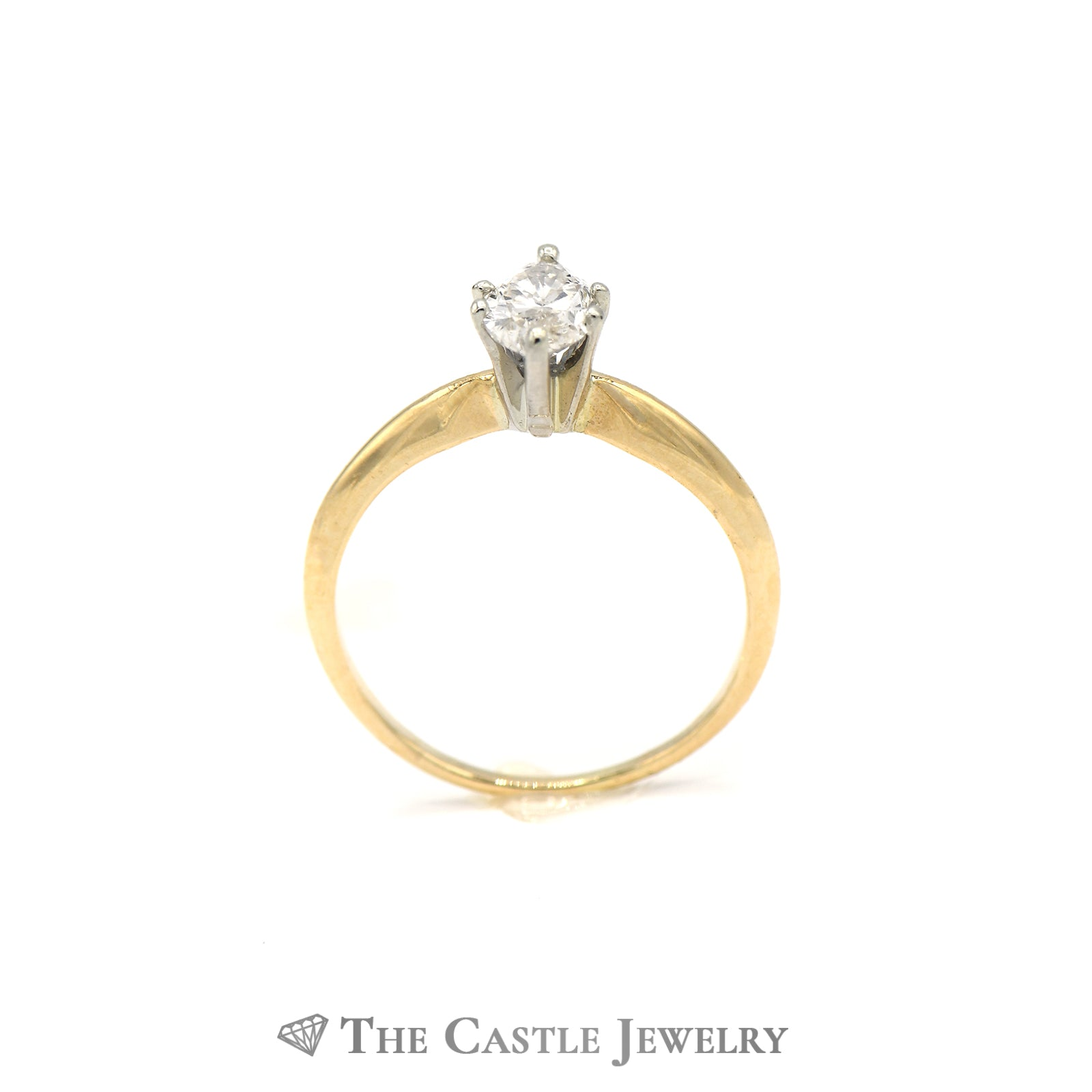 Marquise Solitaire 1/2 carat Diamond Ring in 14KT Yellow Gold-1