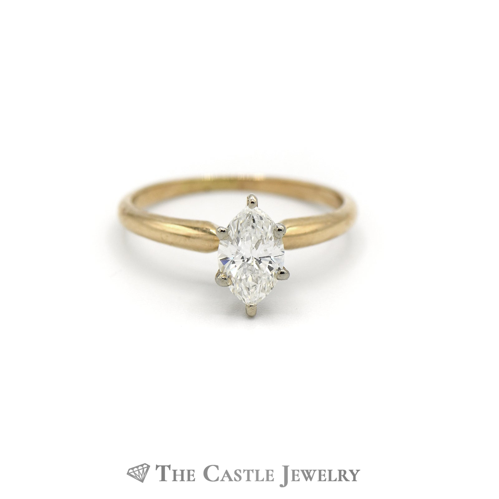 .65ct Marquise Diamond Solitaire Ring in 14KT Yellow Gold