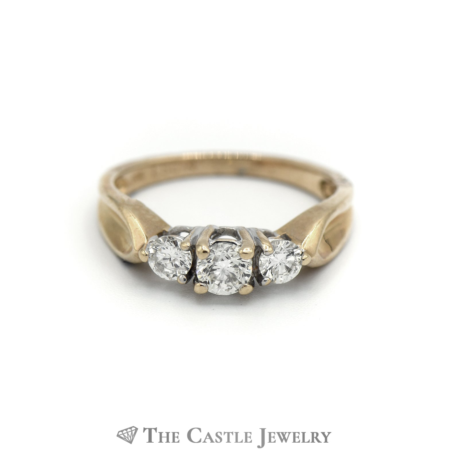 DeBeers Style .50cttw 14KT Yellow Gold Diamond Ring