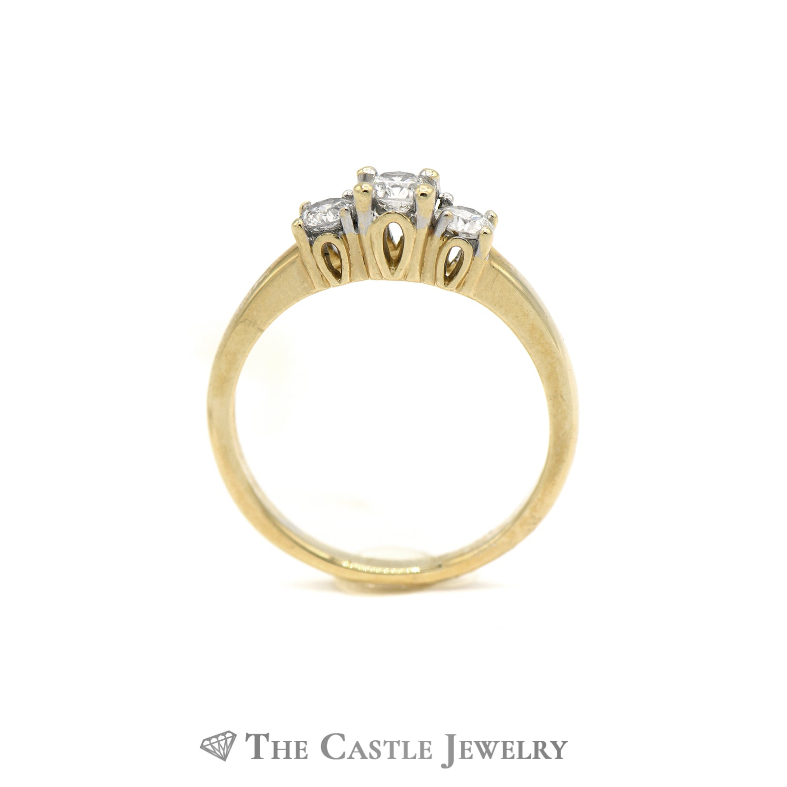 .50CTTW DeBeers Style 14KT Yellow Gold Diamond Ring-1