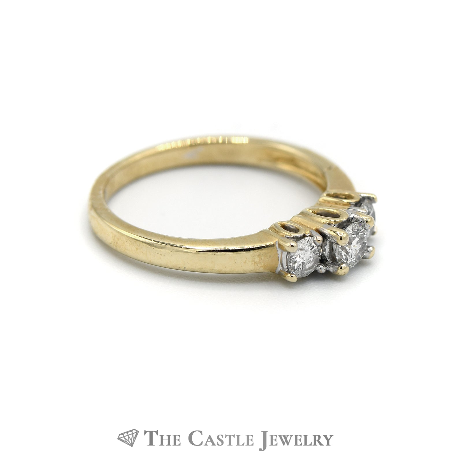 .50CTTW DeBeers Style 14KT Yellow Gold Diamond Ring-2