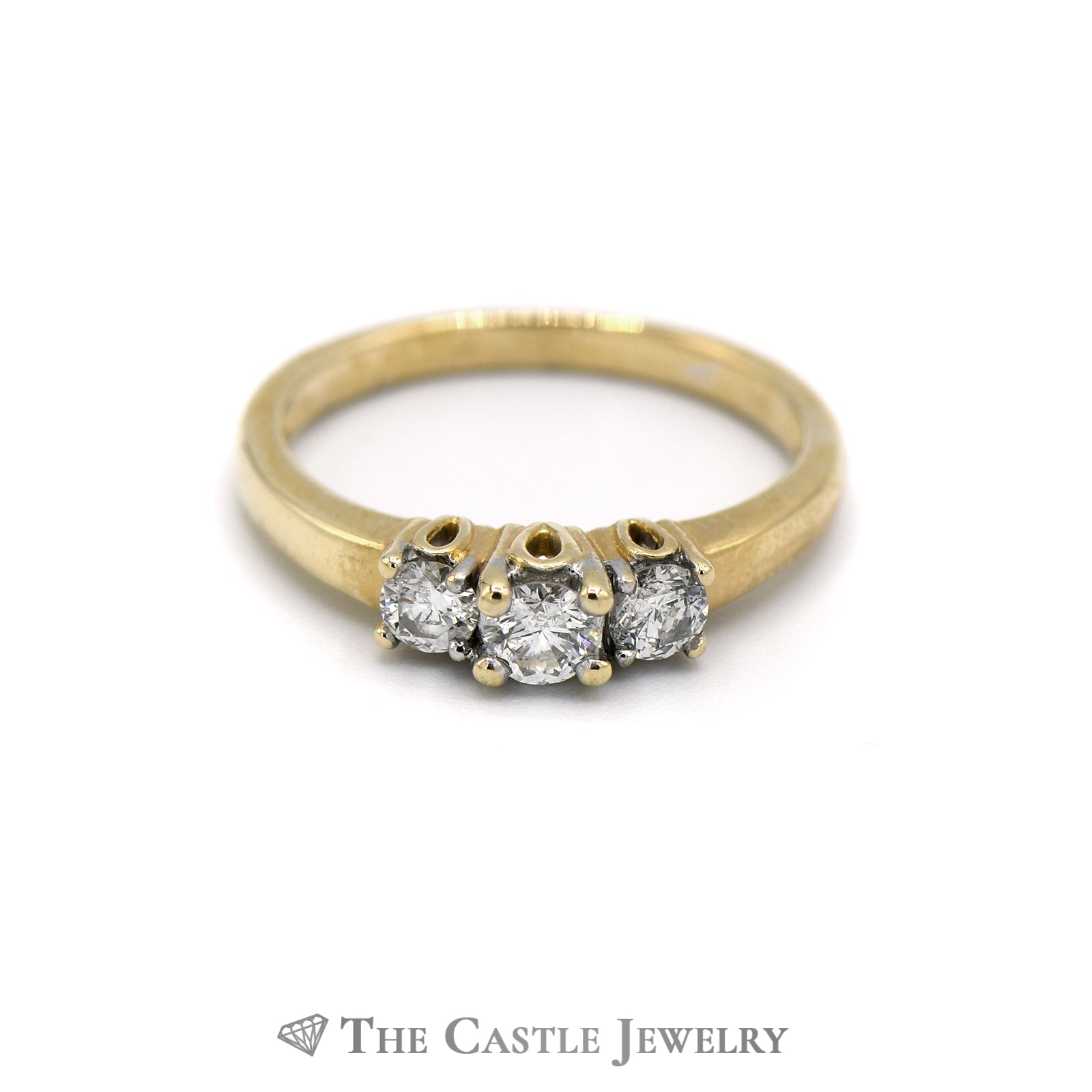 .50CTTW DeBeers Style 14KT Yellow Gold Diamond Ring