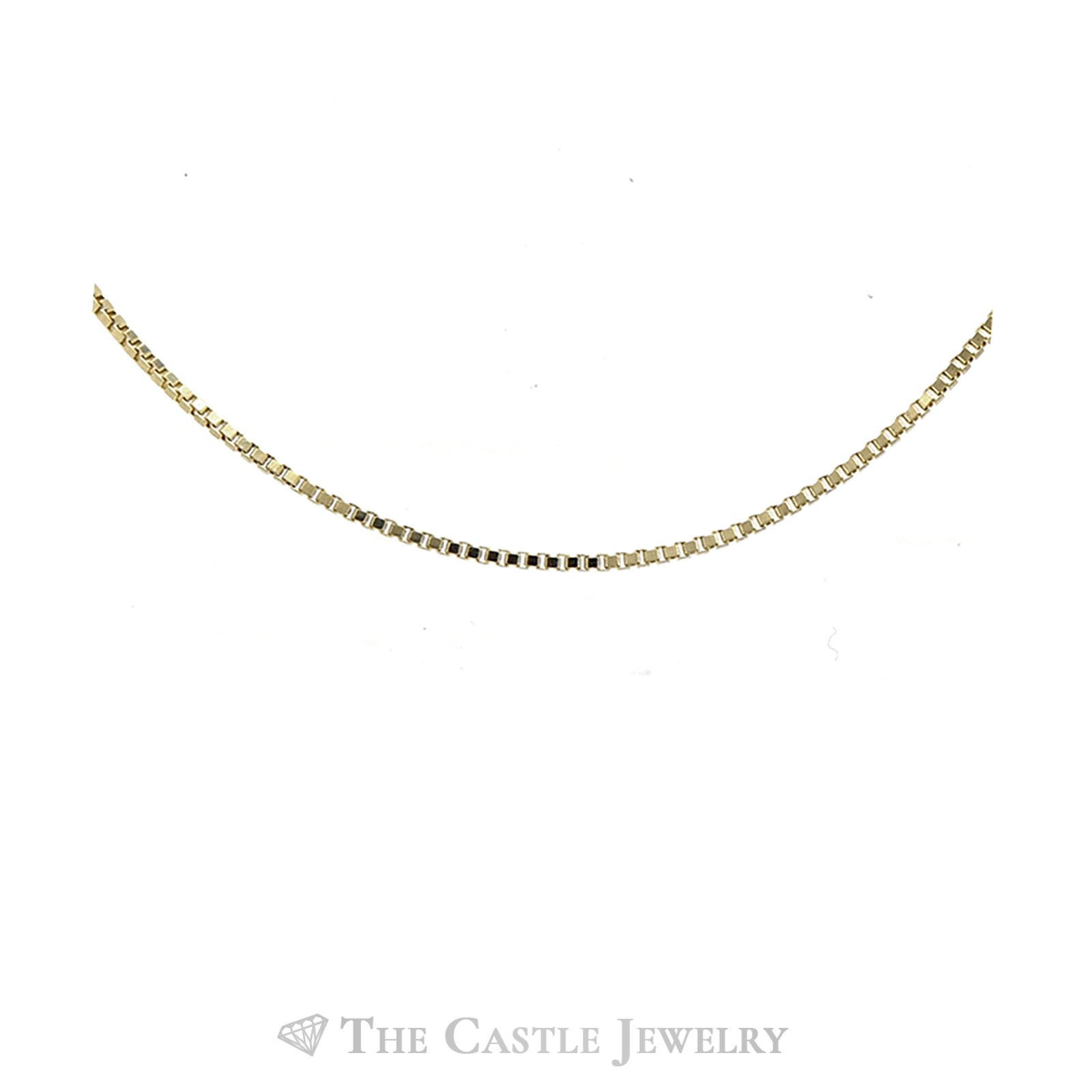 10K Yellow Gold 20 Inch Box Link Chain-1