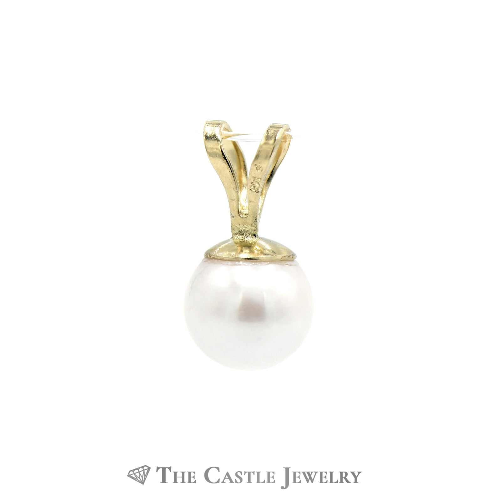6mm Pearl Pendant in 14k Yellow Gold