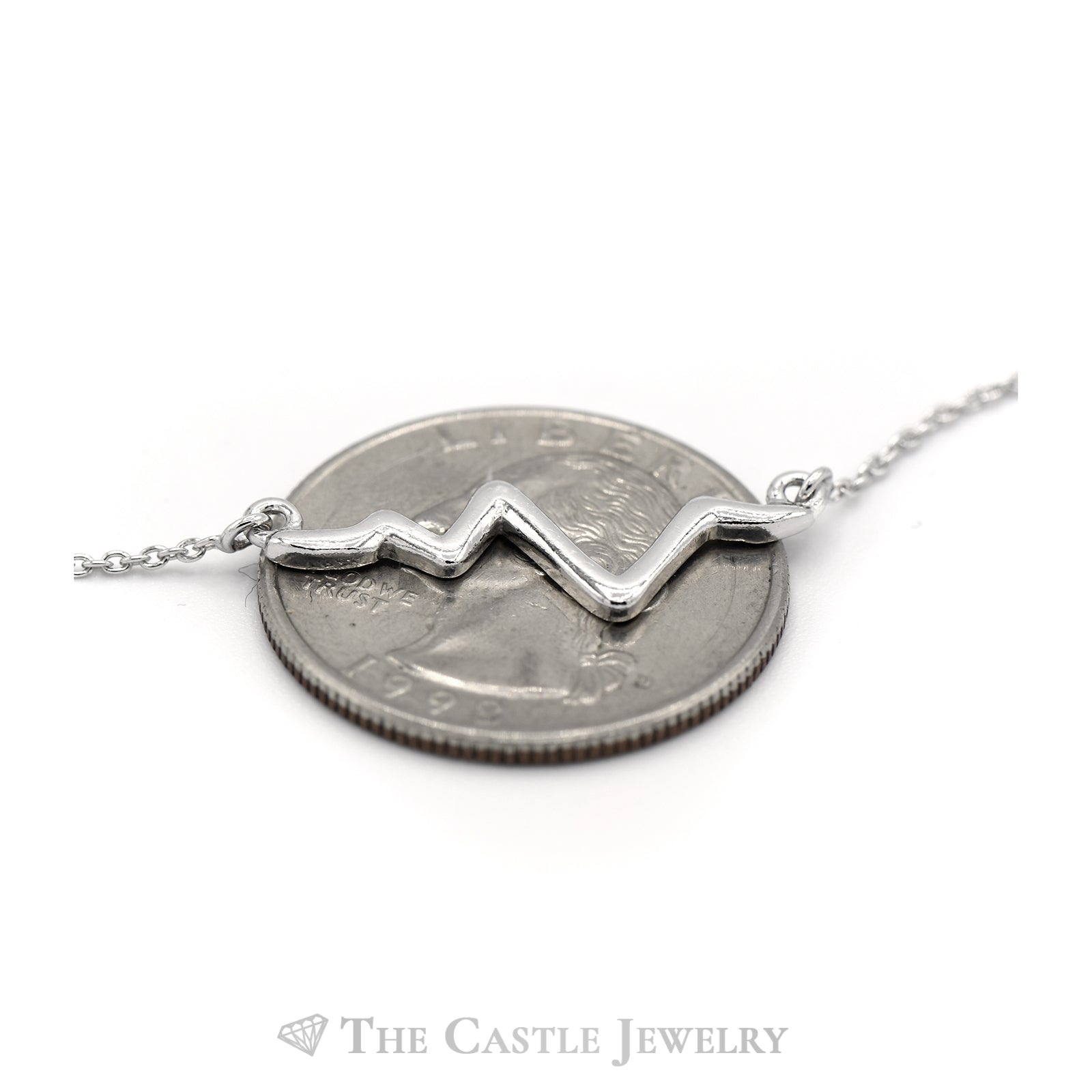 Heartbeat Sterling Sliver Necklace-3