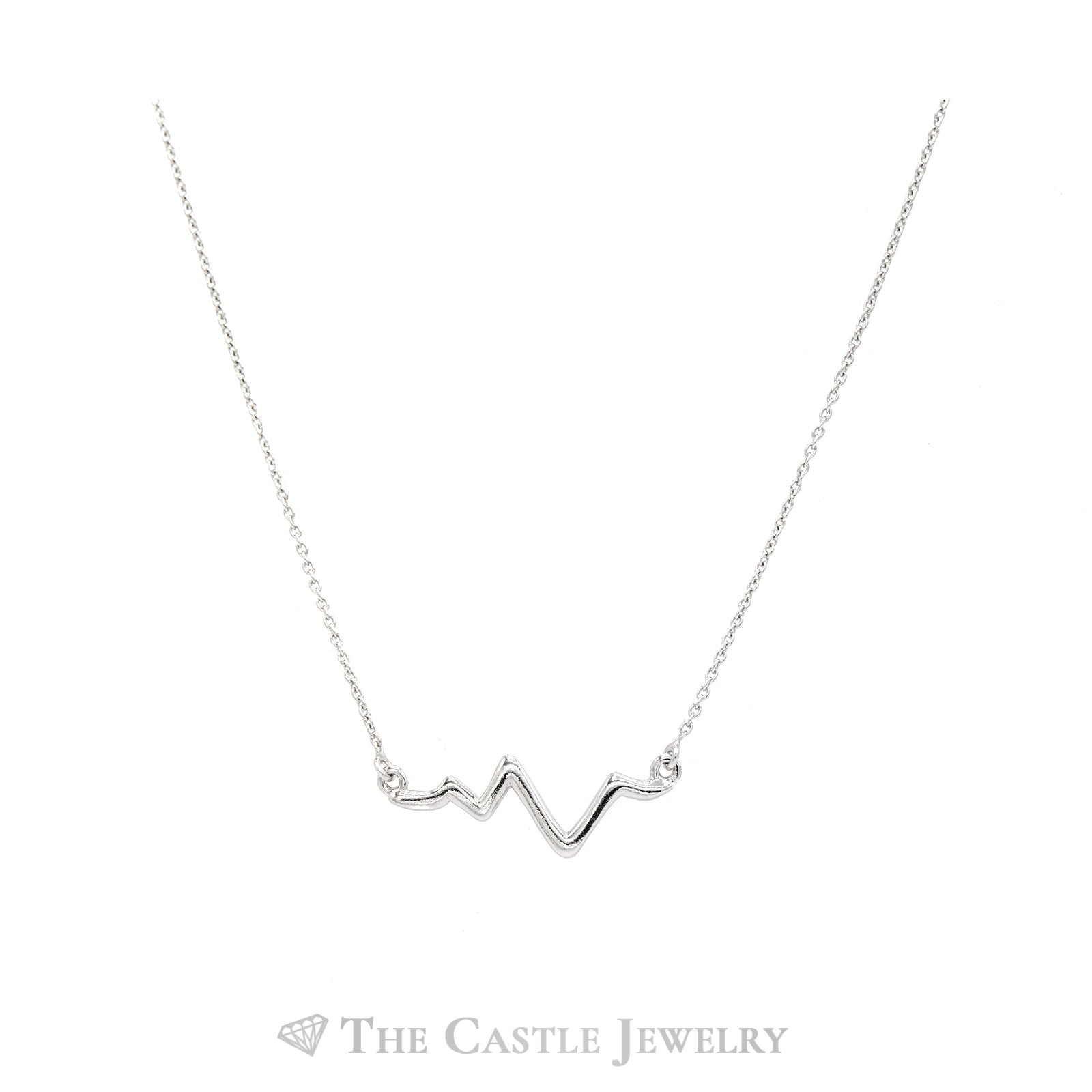 Heartbeat Sterling Sliver Necklace-1