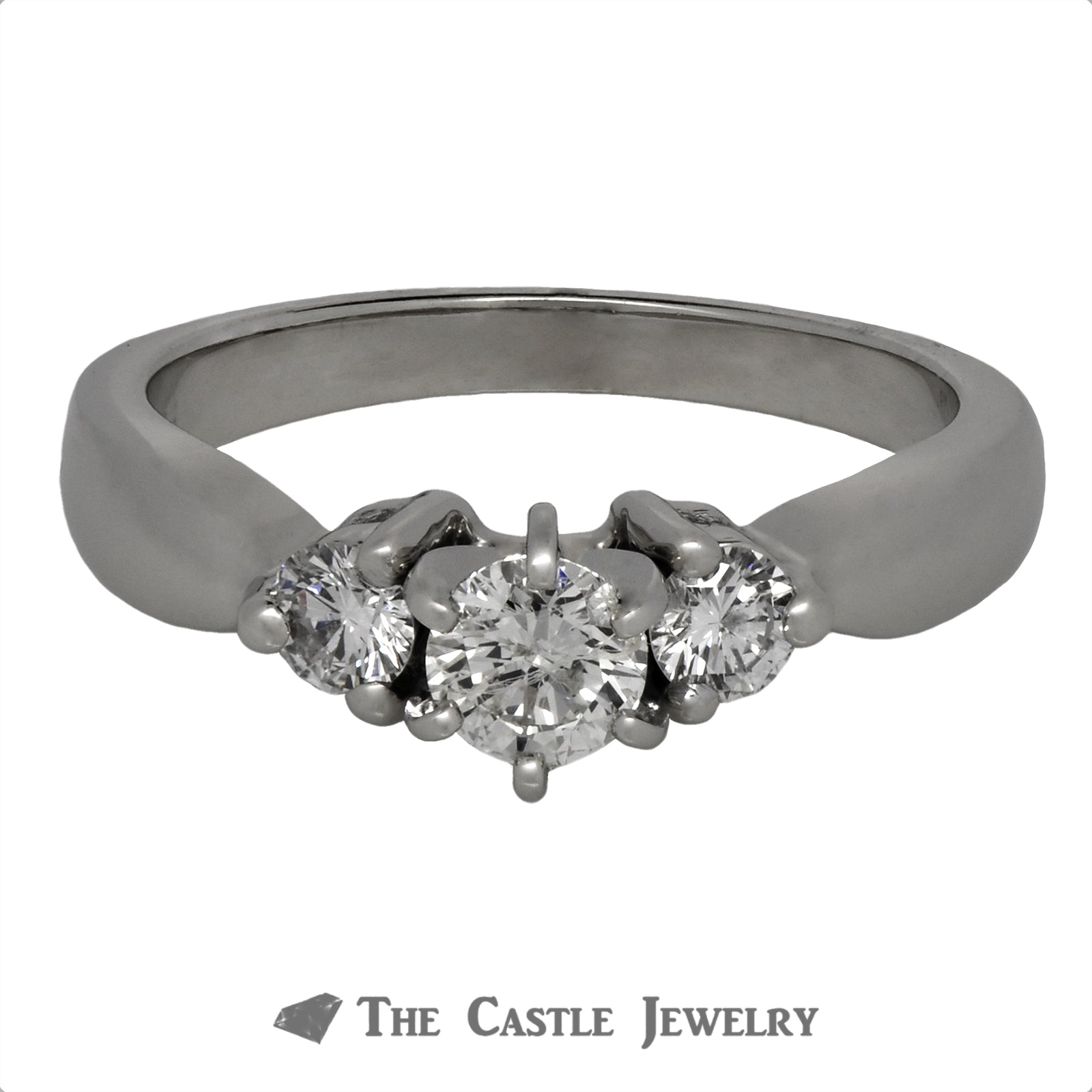DeBeers Style Round Brilliant Cut Diamond Anniversary Ring