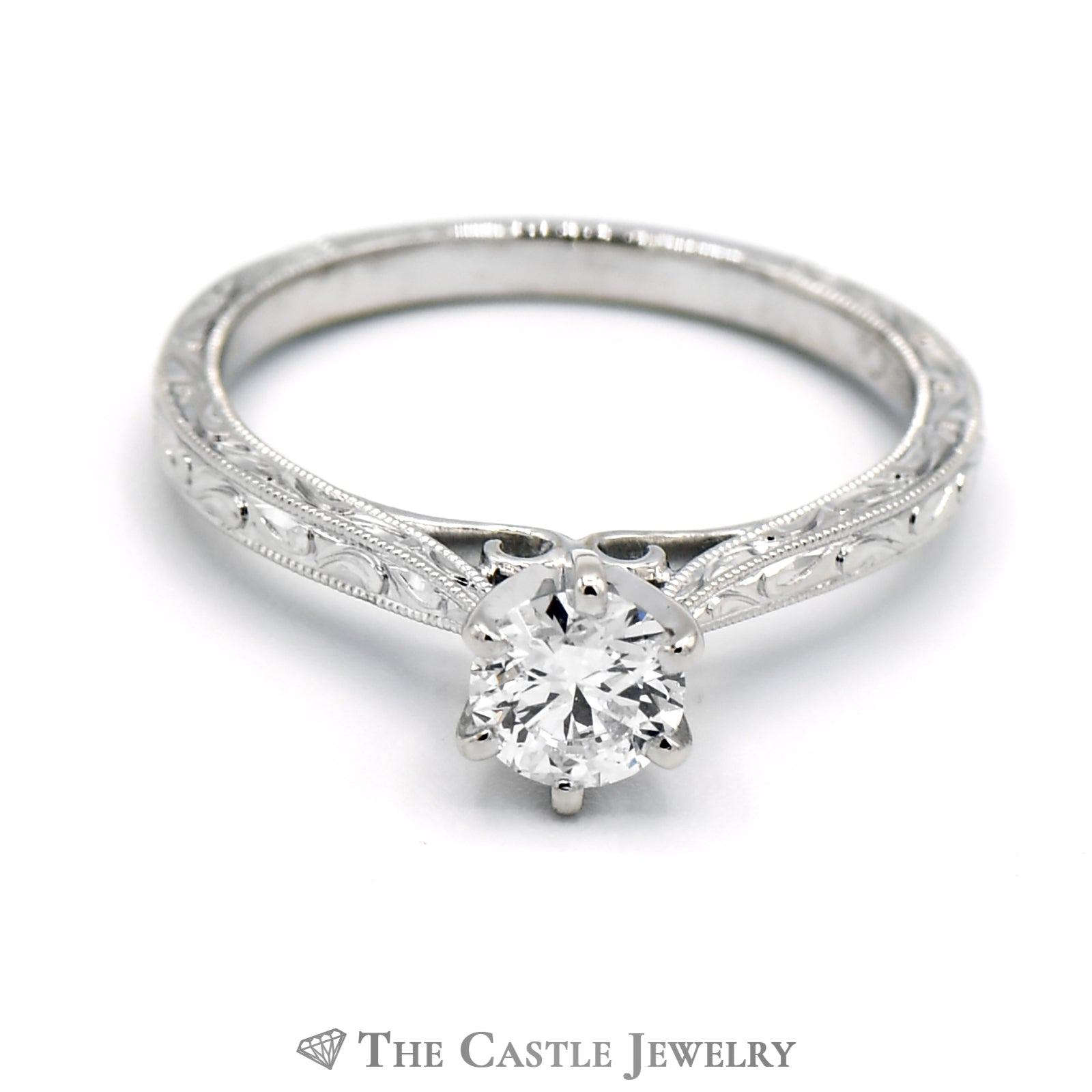 Gabriel & Co. .60ct Round Brilliant Engagement Ring in 14KT WG