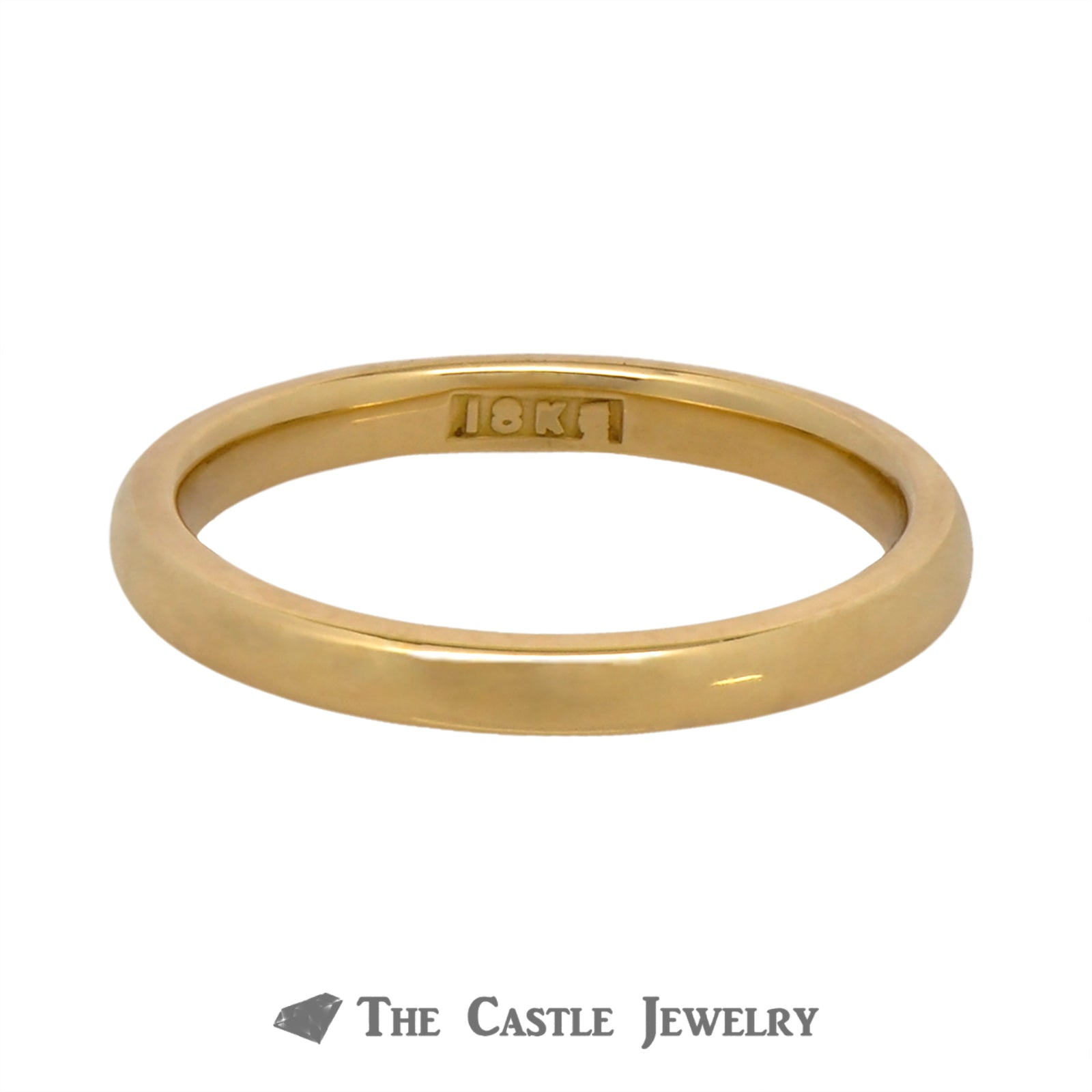 Polished 2.4mm Wedding Band Crafted in 18k Yellow Gold